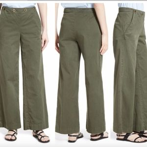 NEW Theory Namid Washed Chinos Pants Myrtle Green